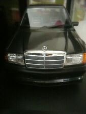Mercedes 190e 2.5-16 evo 1 w201 1989 bl. - negro met. coche modelo 1:18 Minichamps