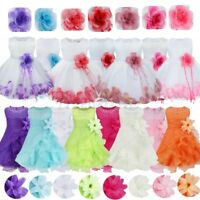 Flower Girls Christening Tutu Dress Baby Infant Kid Princess Dress Wedding Party