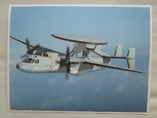 DOCUMENT RECTO/VERSO GRUMMAN E-2C HAWKEYE US NAVY EARLY WARNING SYSTEM AEW&CC