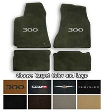 Chrysler 300 Velourtex 4pc Carpet Floor Mats- Choice of Carpet Color & Logo