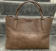 Coach Bag Brown Embossed Snake Leather