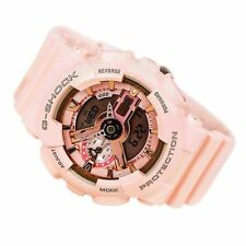 Casio G-shock Gmas110mp-4a1 Ladies Analog Digital Peach Pink Watch GSHOCK