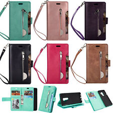 Wallet PU Leather Card Slot Stand Case Cover For Samsung S9+Plus Note 8 iPhone X