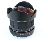 8mm Fisheye Wide Angle Macro Lens for Canon 5D II 6D 700D 600D 550D 1000D 1100D