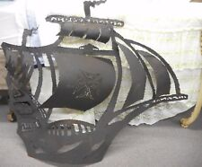 Large Vintage Weld Torch Wall Art Metal Ship Boat Pirate Viking Nautical Rustic