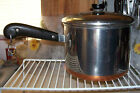 Vintage Revere Ware Stainless Steel Copper 5 Qt Pot Sauce Pan Pre 68 USA Made