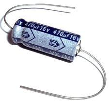 470uF 16V Axial Aluminum Electrolytic Capacitor Nichicon Tvx1C471Maa (10 pcs)