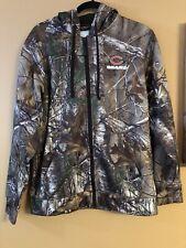 Chicago Bears Camo Hoodie REALTREE Extra Camouflage Men's Full Zip Hood (Medium)
