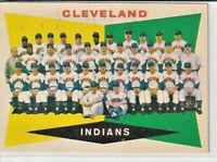 Cleveland Indians 1960 Topps Baseball Team Card #174 Nr. Mint/Mint