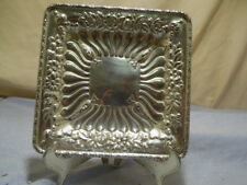 1891 Art Nouveau Howard & Co New York Sterling Silver Ornate Floral Tobacco Tray