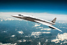 AIR FRANCE CONCORDE SUPERSONIC AIRLINER 12x18 SILVER HALIDE PHOTO PRINT