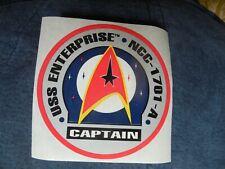 Star Trek Decal Sticker Video Store 1980's Promotional Ncc - 1701 - A Enterprise