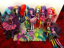 10 x Equestria Girls My Little Pony dolls with accessories