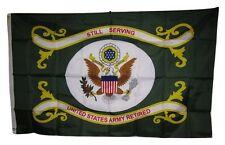 3x5 U.S. Army Still Serving United States Retired Green 200D Nylon Flag 3'x5'