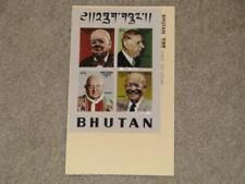 Bhutan, Eisenhower, Churchill, & DeGaulle & Pope John Paul XXIII, FDC