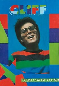 Cliff Richard Gospel Concert Tour 1984 Poster.Official Merchandising Leaflet.