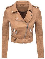 Designer Women'S Between-seasons Jacket Suede look Summer Short D-315 S-XL