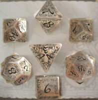 Q-Workshop Elven Transparent & Black D&D Dungeons and Dragons Dice Set Game Dice