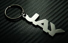 JAY Personalised Name Keyring Keychain Key Fob Bespoke Stainless Steel Gift