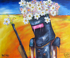 """Ned Kelly Art Painting Print  Andy Baker large 24"""" canvas poster abstract"""