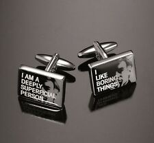Andy Warhol by Troika Cufflinks & Tiepin 6th Limited Edition QUOTE Design Boxed