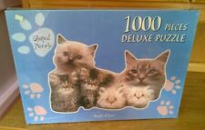 Cat & Kitten Shaped 1000 Piece Jigsaw Puzzle Bundle Of Love New & Sealed