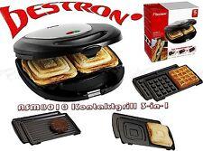 Bestron ASM8010 3iIN1 Kontakt Diät Grill Waffeln automat Sandwich Macker