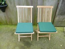 Pair Of Teak Folding Garden/Patio Chairs
