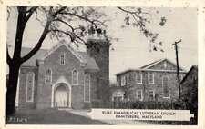 Emmitsburg Maryland Elias Evangelical Lutheran Church Antique Postcard K98974