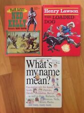 YOUNG AUSTRALIA Series BOOKS WHATS MY NAME MEAN rare Book NED KELLY LOADED DOG