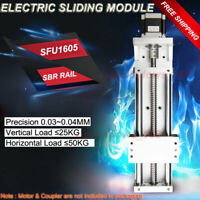 Electric Sliding Table Linear Rail Motion Module SFU1605 Ballscrew Milling Table
