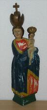 sehr alte Holzscheid-Madonna  Holzfigur Madonna mit Kind