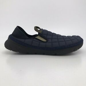 Merrell Mens Hut Moc Slip-On House Shoes Navy Blue Quilted Insulated Slippers 9