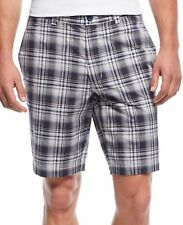 New Club Room Big And Tall Ombre Plaid Flat Front The Estate Shorts 48