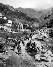 New 8x10 World War II Photo: Soldiers of 370th Infantry Regiment in Prato, Italy