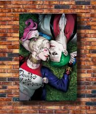 Hot Fabric Poster Suicide Squad - Harley Quinn and The Joker 36x24 40x27in Z229