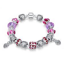 T::A Damen Bettel Armband Beads Charms rot Herz pl. mit Sterlingsilber Anhänger
