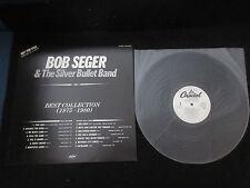 Bob Seger Best Collection 1975-1980 Japan Promo only White Label Vinyl LP