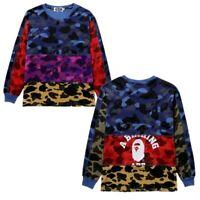 Bape A Bathing Ape Mixed Color Camo Monkey Head Men's Hoodie Pullover Sweatshirt