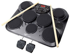 Pyle PTED01 Electronic Table Top Drum Kit, 7 Drum Pads with Touch Sensitivity