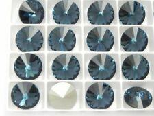 Montana Foiled (Various Sizes) Swarovski 1122 Rivoli Stones