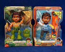 """2 NEW - Go Diego Go - ANTARCTIC & SWAMP - Extreme Rescue 6"""" Action Figures NICK"""