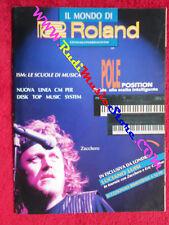 rivista IL MONDO DI ROLAND Gennaio 1990 Zucchero Luciano Luisi No cd