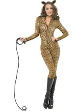 Leopard Print Catsuit Ladies Animal Costume Fancy Dress Size UK 16-18