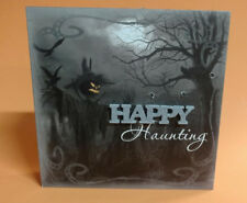 "8"" Light-Up Vintage Halloween Table Box ""Happy Haunting"""
