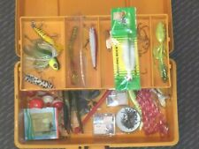 Fenwick 1040 Fishing Tackle Box with Contents, Lures, Weights, Hooks, Corks