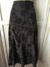 "Per Una Maxi Skirt Brown Tweed Cord Winter Warm 10 r 100% Cotton Riding 34"" Long"