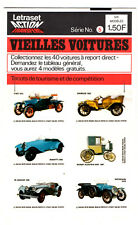 LETRASET ACTION TRANSFERS ¤ 1971 ¤ 6 TACOTS ¤ VIEILLES VOITURES SERIE n°5