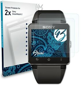 Bruni 2x Protective Film for Sony SmartWatch 2 Screen Protector
