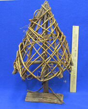 Primitive Rustic Wood & Vine Tree Natural Wooden Decorative 15 Inch Tall
